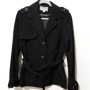 Traditional Style Hip Length Trench Coat M